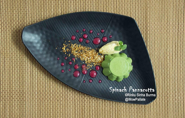 Spinach Pannacotta