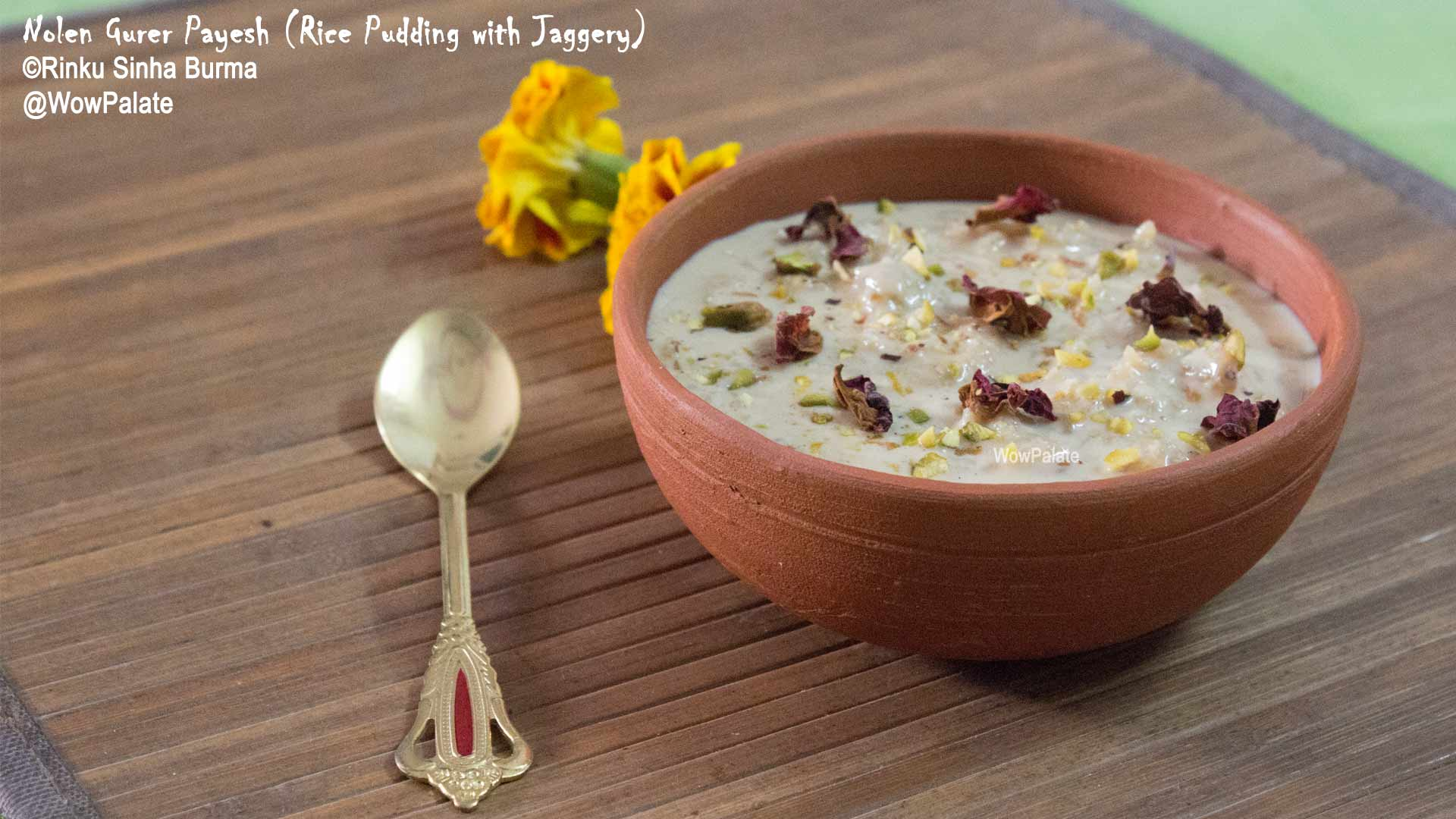 Nolen Gurer Payesh (Rice Pudding with Jaggery)