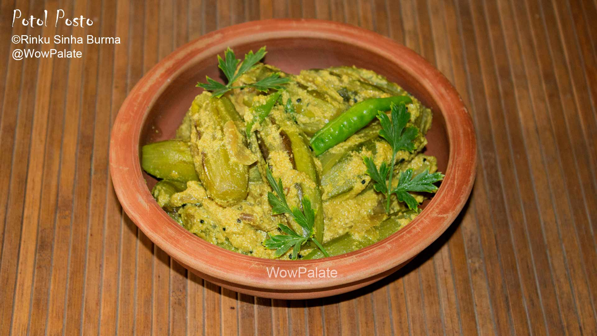 Potol Posto ( Parwal khas khas / Pointed gourd with poppy seeds )