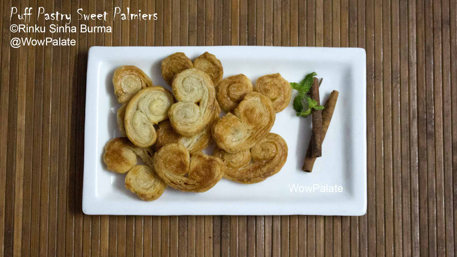 Puff Pastry Sweet Palmiers