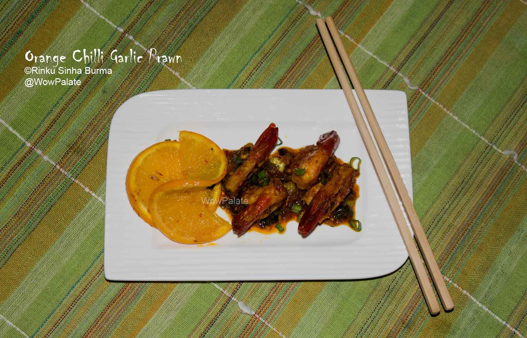 Orange Chilli Garlic Prawn