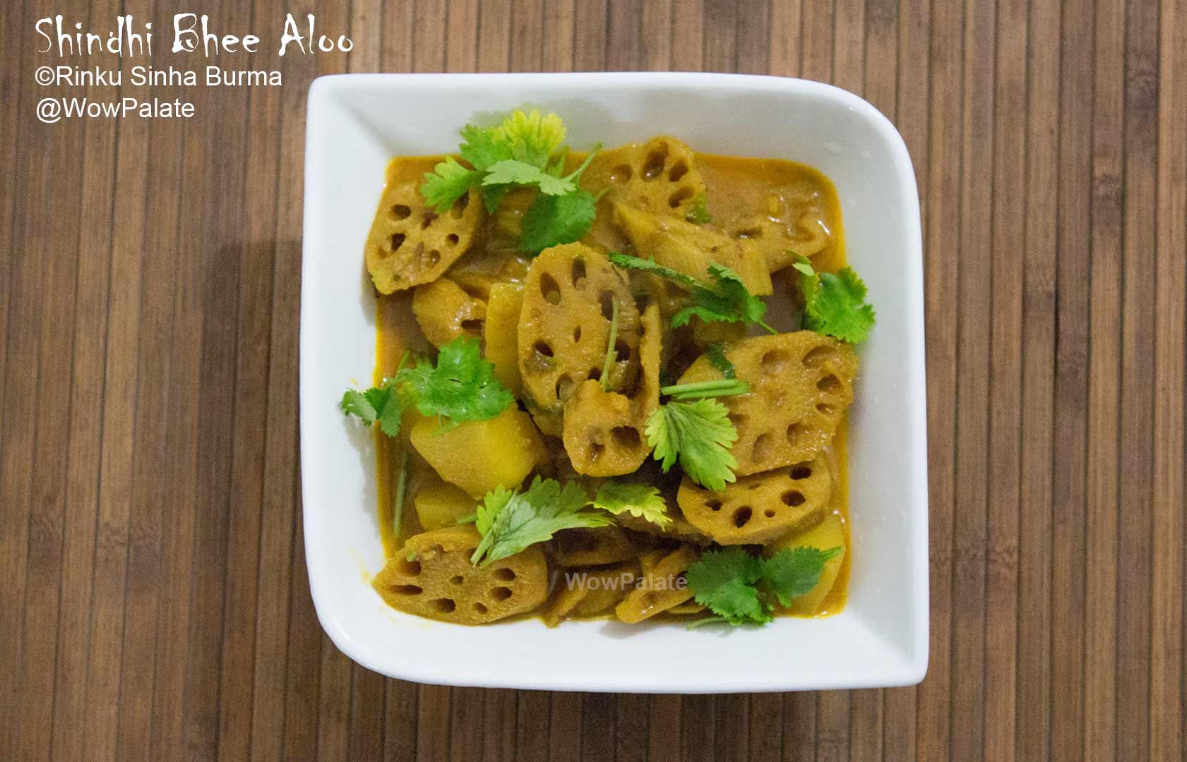 Shindhi Bhee Aloo (Lotus Stem and Potato)