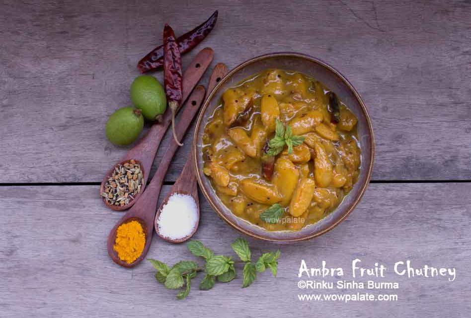 Ambra Fruit Chutney Recipe | Umbra Fruit Sauce| Ambrella Chutney| Ambra Chutney
