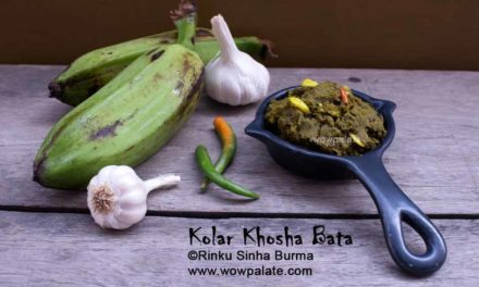 Kolar Khosha Bata | Raw Banana Peel Mash | Banana Peel Recipe