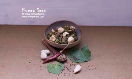 Kumro Saag | Kumro Saag Chorchori | Pumpkin Leave Recipe