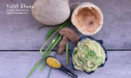 Kabith Bharta | Wood Apple Mash | Kaitha Chutney | Wood Apple Sauce | Wood Apple Bharta Recipe
