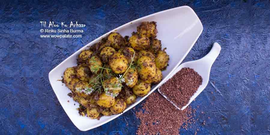 Til Aloo Ko Achaar Recipe