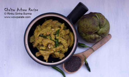 Chaltar Achaar Recipe | Elephant Apple Chutney | Elephant Apple with Mustard Paste