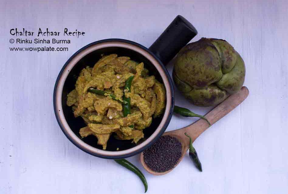Chaltar Achaar Recipe | Elephant Apple Chutney | Elephant Apple with Mustard Paste