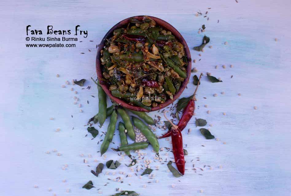 Fava Beans Fry Recipe | Broad Beans Fry | Bakla Bhaji