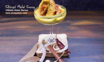 Chingri Malai Curry Recipe | Chingri Malaikari | Chingri Macher Malai Curry | Prawn In Coconut Milk