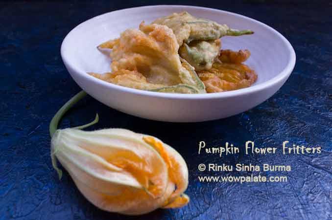 Pumpkin Flower Fritters Recipe