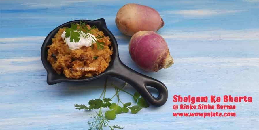 Shalgam Ka Bharta Recipe | Mashed Turnip Recipe
