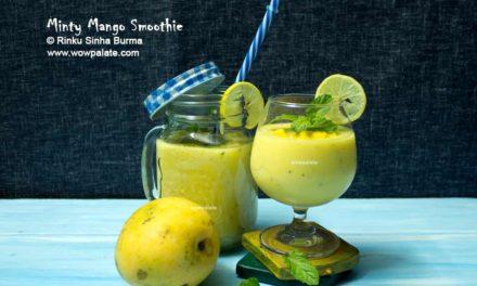 Minty Mango Smoothie   Mango Smoothie Recipe   How To Make Mango Smoothie