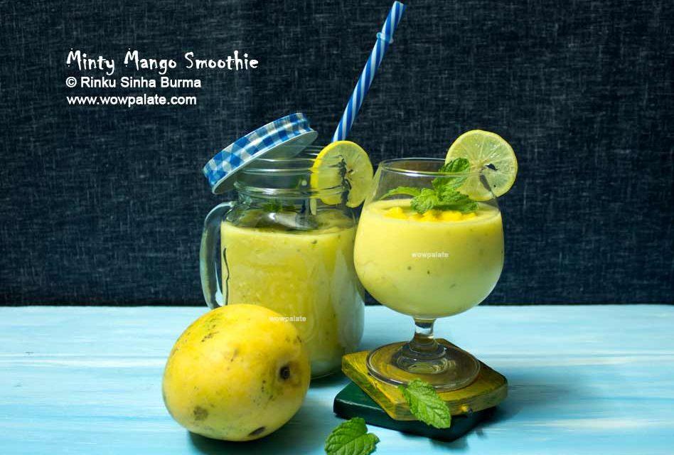 Minty Mango Smoothie | Mango Smoothie Recipe | How To Make Mango Smoothie