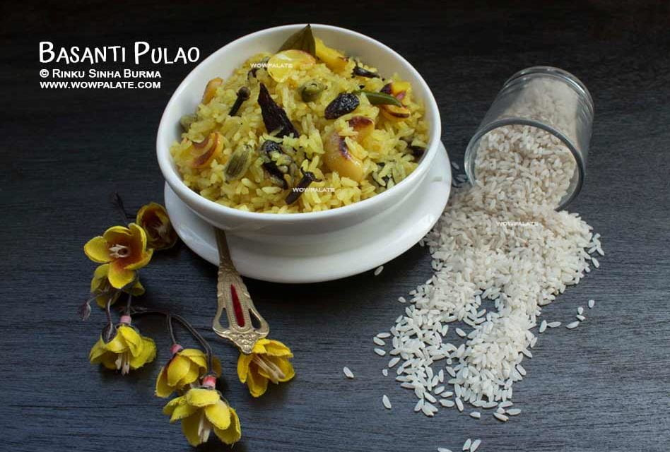 Basanti Pulao Recipe   Mishti Pulao   Holud Pulao   Mithi Chawal   Sweet Rice
